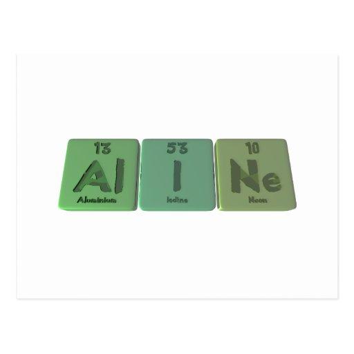 Aline como neón de aluminio del yodo postal