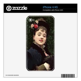 Aline Masson, the Artist's Model (oil on panel) Skins For iPhone 4