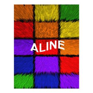 ALINE (nombres femeninos) Membrete Personalizado