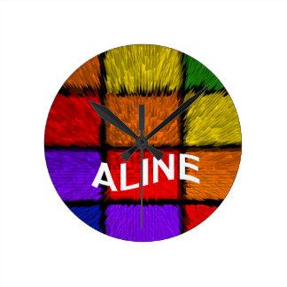 ALINE (nombres femeninos) Reloj Redondo Mediano