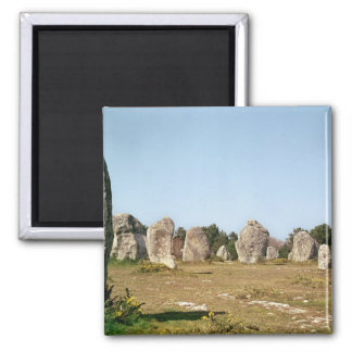 Alineación de piedras derechas, megalítica imán cuadrado