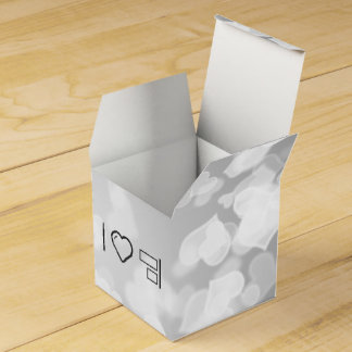 Alineación fresca del objeto cajas para regalos de boda