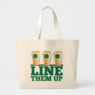 Alinéelos ENCIMA de la cerveza verde del irlandés  Bolsa Tela Grande