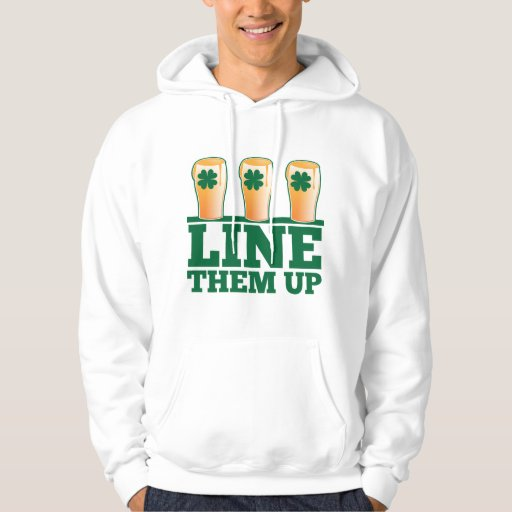 Alinéelos ENCIMA de la cerveza verde del irlandés Sudadera