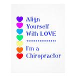 ¡Alinéese con amor - soy Chiropractor! Plantilla De Membrete