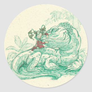 ali's dragon classic round sticker