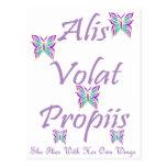 Alis Volat Propiis Postcards