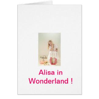 ¡Alisa en el país de las maravillas! Tarjeta De Felicitación
