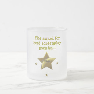 ALISA: The Award For Best Screenplay Frosted Glass Coffee Mug