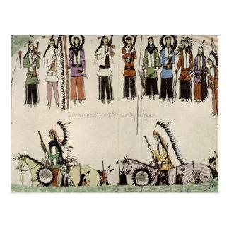 Alisando la danza del lugar tinta en el papel postales