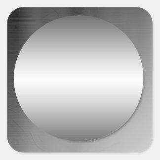 Alise al pegatina enmarcado del círculo del metal