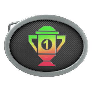 Alise el 1r trofeo del lugar hebillas de cinturón ovales