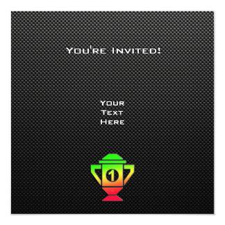"""Alise el 1r trofeo del lugar invitación 5.25"""" x 5.25"""""""