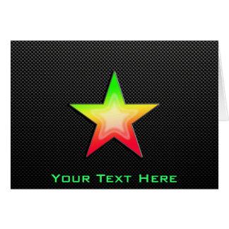 Alise la estrella tarjeta de felicitación