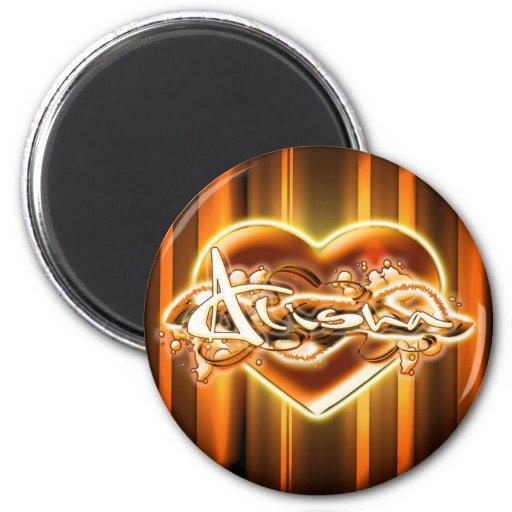 Alisha 2 Inch Round Magnet
