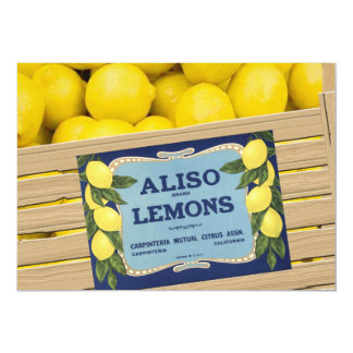 """Aliso Lemons in a Crate 5"""" X 7"""" Invitation Card"""