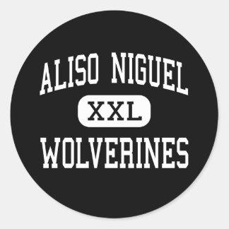 Aliso Niguel - carcayúes - alto - Aliso Viejo Pegatina Redonda