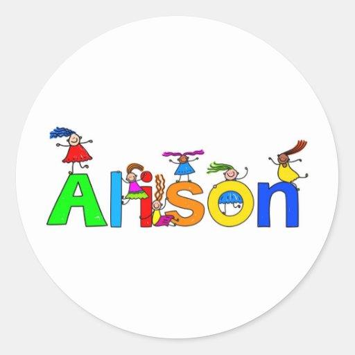 Alison Classic Round Sticker