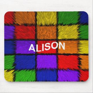 ALISON ( female names ) Mouse Pad