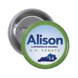 Alison Lundergan Grimes for U.S. Senate 2014 2 Inch Round Button