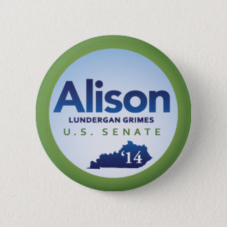 Alison Lundergan Grimes for U.S. Senate 2014 Button
