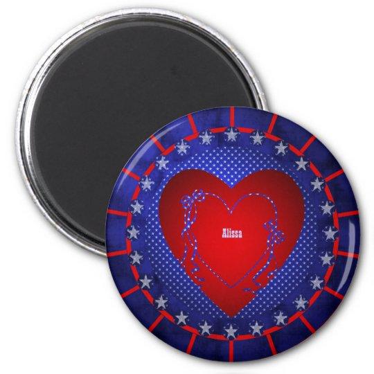 Alissa 2 Inch Round Magnet