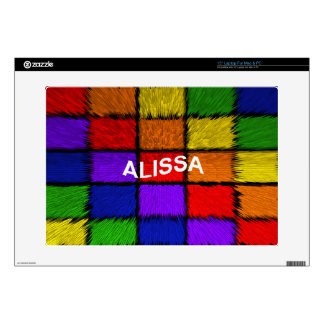 ALISSA ( female names ) Decals For Laptops