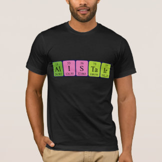 Alistair periodic table name shirt