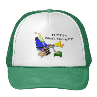 Alistair The Deaf Cricket And His Big Ear Trumpet Trucker Hat