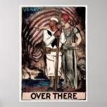 Alistamiento de la marina de guerra de WWI Poster