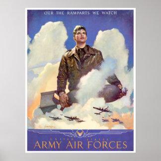 Alistamiento de las fuerzas aéreas del ejército de póster