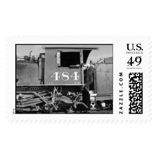 Alistar el tren timbre postal