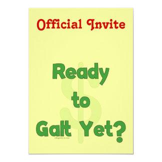 "Aliste a Galt todavía Invitación 5"" X 7"""