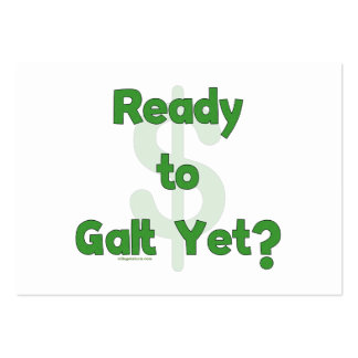 Aliste a Galt todavía Tarjetas De Visita Grandes