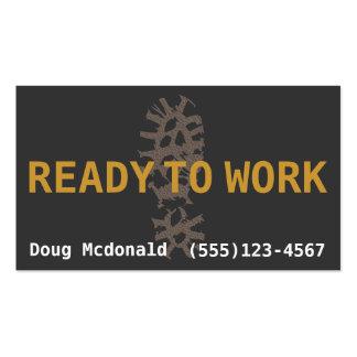 ALISTE al dinero de WORK.Job Search.Make Tarjetas De Visita