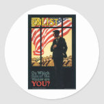 """Aliste"" el poster militar viejo de los E.E.U.U. c Etiquetas"