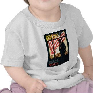 """""""Aliste"""" el poster militar viejo de los E.E.U.U. Camiseta"""