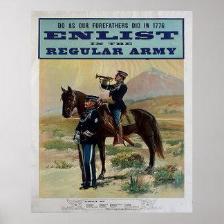 Aliste en el ejército profesional póster