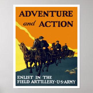 Aliste en la artillería de The Field -- Ejército W Póster
