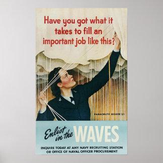 Aliste en las ondas poster