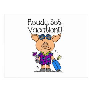 Aliste las vacaciones determinadas tarjeta postal