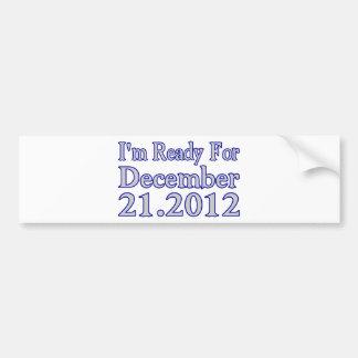 Aliste para 2012 etiqueta de parachoque