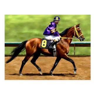 Aliste para correr - la pintura del caballo de raz tarjeta postal