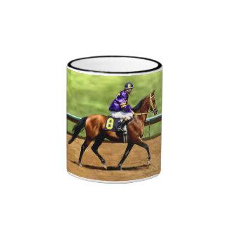 Aliste para correr - la pintura del caballo de raz taza a dos colores