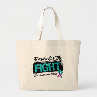 Aliste para el cáncer de tiroides de la lucha bolsa lienzo
