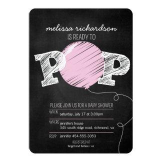 Aliste para hacer estallar al chica rosado del invitación 12,7 x 17,8 cm