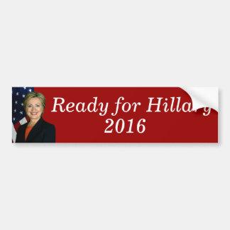Aliste para Hillary 2016 Pegatina Para Auto