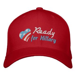 Aliste para Hillary Gorras De Beisbol Bordadas