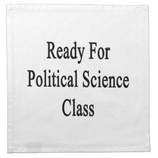 Aliste para la clase de la ciencia política servilleta