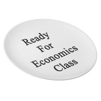 Aliste para la clase de la economía